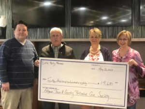 Antigonish Palliative Care - Receiving Cheque from Credit Union