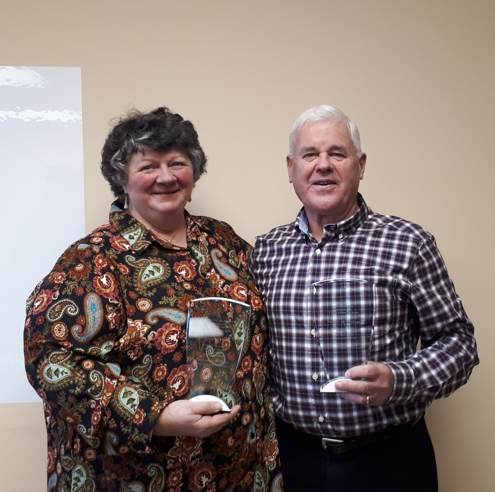 Plaques were awarded to John R. MacDougall and Anne Marie Long for their years of service, and in particular their determination in seeing the Palliative Care unit become a reality