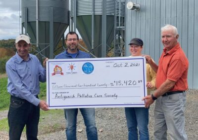 2021 -Clydesdale Chicken & Turkey held their annual Poultry Box sale in support of the Antigonish Town & County Palliative Care Society